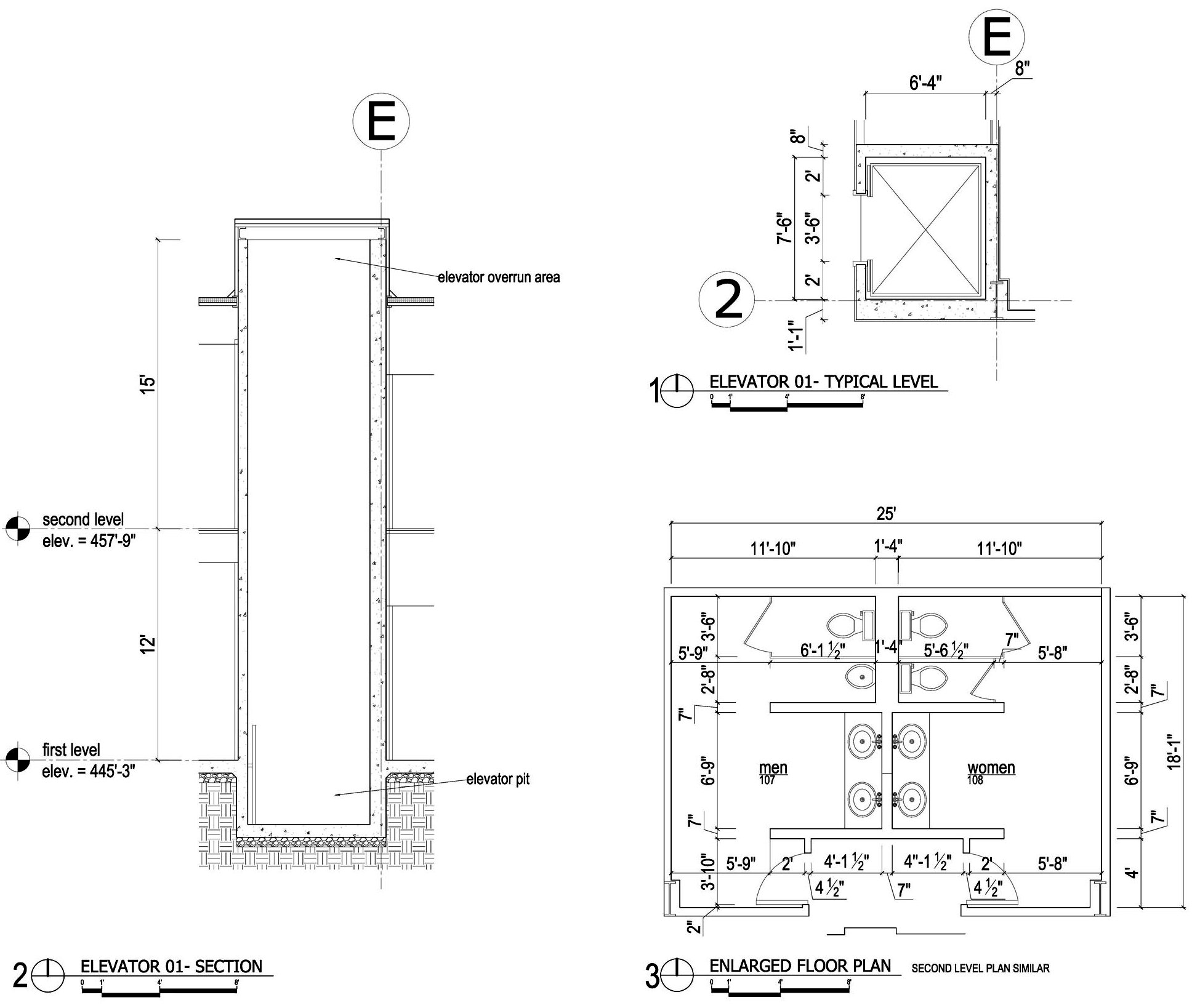 Floor section at elevator related keywords floor section for Elevator floor plan
